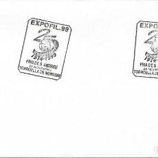 Sellos: 1999. TORROELLA DE MONTGRI. MATASELLOS/POSTMARK. ESCUDO F.C.BARCELONA. FÚTBOL/FOOTBALL. DEPORTES.. Lote 147555086