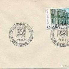 Sellos: 1975. VALENCIA. MATASELLOS/POSTMARK. EXPOSICIÓN FILATÉLICA HERMANDAD ZARAGOZA-VALENCIA.. Lote 147556182