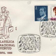 Sellos: 1985 LEON - SEMANA FILT AÑO INT DE LA JUVENTUD - SOBRE ALFIL . Lote 147579986