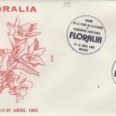 Sellos: 1985 MADRID - FLORALIA , SALON DE LA PLANTA Y ELEMENTOS AUXILIARES - SOBRE ALFIL . Lote 147580070