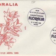 Sellos: 1985 MADRID - FLORALIA , SALON DE LA PLANTA Y ELEMENTOS AUXILIARES - SOBRE ALFIL . Lote 147580078