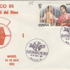 Sellos: 1985 MADRID - IBERDISCO'85 . SALON NACIONAL DEL DISCO - SOBRE ALFIL . Lote 147580926