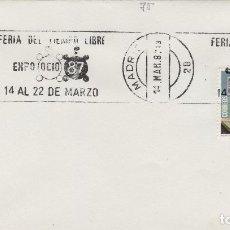 Sellos: 1987 - MADRID , FERIA TIEMPO LIBRE EXPO OCIO 87 - SOBRE CON MATASELLOS DE RODILLO. Lote 148072826