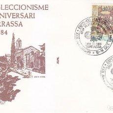 Sellos: XXX ANIVERSARI EXPO-COL.LECCIONISME, TARRASA TERRASSA (BARCELONA) 1984. MATASELLOS EN SOBRE IGLESIAS. Lote 148163714
