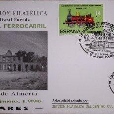 Sellos: SOBRE MATASELLOS LINARES Y EL FERROCARRIL 1996. Lote 148169105