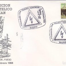 Sellos: PREVENCION DE ACCIDENTES LABORALES VI EXPOSICION CLUB AGROMAN, MADRID 1984 MATASELLOS EN SOBRE ALFIL. Lote 148170030