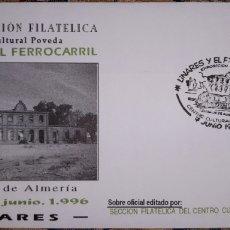 Sellos: SOBRE VIII EXPOSICIÓN FILATÉLICA CENTRO CULTURAL POVEDA 1996. Lote 148170926
