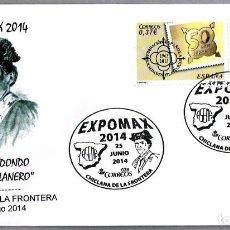 Sellos: MATASELLOS EXPOMAX 2014 - TORERO JOSE REDONDO - EL CHICLANERO. CHICLANA, CADIZ, ANDALUCIA. Lote 148212794