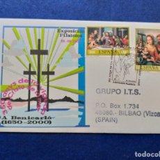 Sellos: RELIGION 350 AÑOS DE LA VENIDA DEL CRISTO DEL MAR A BENICARLÓ (CASTELLON) 2000 . Lote 148797562