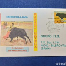 Sellos: SOBRE ILUSTRADO. HOMENAJE A RAFAEL ORTEGA, TORERO. SAN FERNANDO, CADIZ, ANDALUCIA, 2000. Lote 148984730