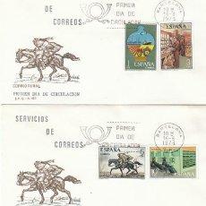 Sellos: EDIFIL 2329/32, SERVICIOS DE CORREOS, PRIMER DIA DE 16-6-1976 EN DOS SOBRES DEL SFC. Lote 151009226