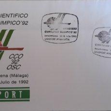 Sellos: SOBRE CONGRESO CIENTÍFICO OLÍMPICO 1992. Lote 151080702