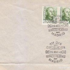 Sellos: GENERAL FRANCO 1948 (EDIFIL 1021 DOS SELLOS) EN SOBRE PRIMER DIA. BONITO Y RARO ASI. . Lote 151259870