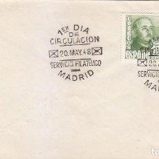 Sellos: GENERAL FRANCO 1948 (EDIFIL 1021 DOS SELLOS) EN SOBRE PRIMER DIA. BONITO Y RARO ASI. . Lote 151259934