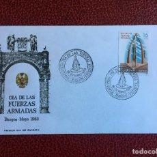 Sellos: SOBRE PRIMER DIA DE EMISION DEL DIA DE LAS FUERZAS ARMADAS, AÑO 1983. Lote 151378762