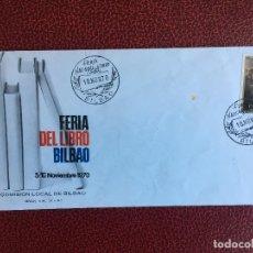 Sellos: SOBRE POSTAL FERIA DEL LIBRO DE BILBAO DE 1970. Lote 151381854