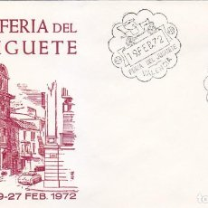 Sellos: XI FERIA DEL JUGUETE, VALENCIA 1972. RARO MATASELLOS EN SOBRE SIN CIRCULAR DE ALFIL.. Lote 151523242