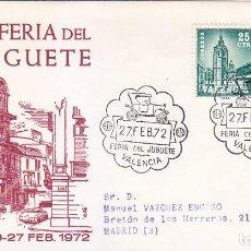 Sellos: XI FERIA DEL JUGUETE, VALENCIA 1972. RARO MATASELLOS EN SOBRE CIRCULADO DE ALFIL.. Lote 151523306