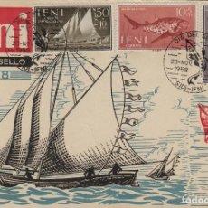 Selos: IFNI , 1958 , ED Nº 149/51 DIA DEL SELLO TARJETA MÁXIMA PRIMER DIA . FAUNA . Lote 152456230