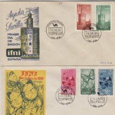 Sellos: IFNI , 1963 , AÑO COMPLETO EN SOBRES - SOBRE PRIMER DIA S.F.C. .. Lote 152458862