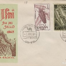 Sellos: IFNI , 1964 , ED 200/2 DIA DEL SELLO - SOBRE PRIMER DIA S.F.C. INSECTOS . Lote 152460246