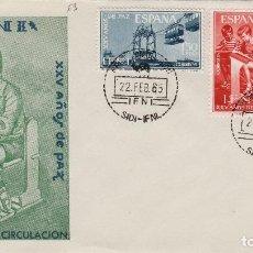 Sellos: IFNI , 1965 , ED 209/11 , XXV AÑOS DE PAZ - SOBRE PRIMER DIA S.F.C.. Lote 152460738