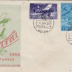 Sellos: IFNI , 1966 , ED 218/20 ,PRO INFANCIA - SOBRE PRIMER DIA S.F.C.. Lote 152461298