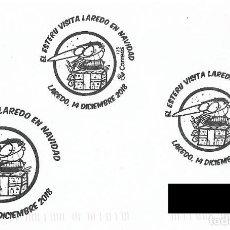 Sellos: ESPAÑA. MATASELLOS ESPECIAL. EL ESTERU VISITA LAREDO EN NAVIDAD. 2018. Lote 152556066