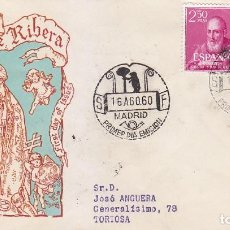 Sellos: RELIGION CANONIZACION BEATO JUAN DE RIBERA 1960 (EDIFIL 1292/93) EN SOBRE PRIMER DIA CIRCULADO ALFIL. Lote 152571434