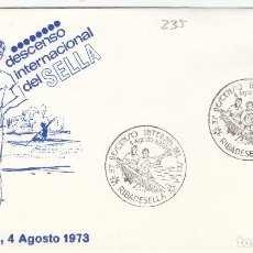 Sellos: 1973 RIBADESELLA ( ASTURIAS ) , DESCENSO INTERNACIONAL DEL SELLA -SOBRE ALFIL . Lote 153153182