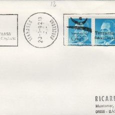 Sellos: 1992 TERRASSA (BARCELONA) BARCELONA 92 , JUEGOS OLÍMPICOS , OLIMPIADAS - SOBRE MATASELLOS DE RODILLO. Lote 153524814