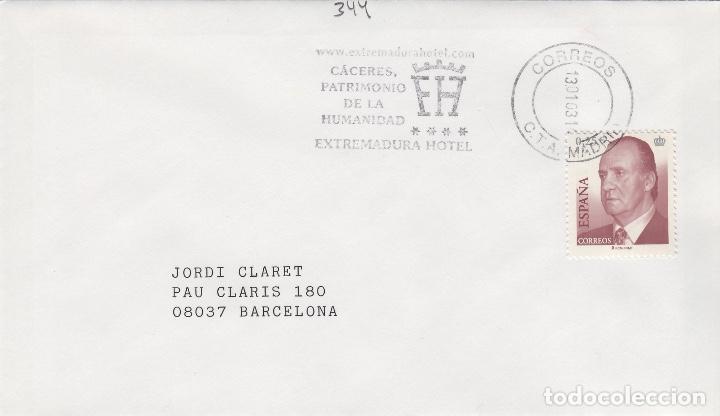 2003 MADRID , , CÁCERES , PATRIMONIO DE LA HUMANIDAD -SOBRE MATASELLOS DE RODILLO (Sellos - Historia Postal - Sello Español - Sobres Primer Día y Matasellos Especiales)