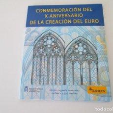 Sellos: PACK PRUEBA ESPECIAL CONMEMORACION DEL X ANIVERSARIO DE LA CREACION DEL EURO - 2009. Lote 154353502