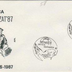 Sellos: 1987 BASAURI ( VIZCAYA ) EXPOSICION GAZTEENTZAT 87 -SOBRE ALFIL . Lote 154457830