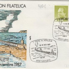 Sellos: 1987 PORTUGALETE (VIZCAYA ) , I EXPOSICION FILATÉLICA .SOBRE ALFIL . Lote 154673714