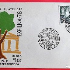 Sellos: ESPAÑA. SPD 2480 DÍA DEL SELLO. 1978. MATASELLO: 27 JUNIO BILBAO. Lote 155620281