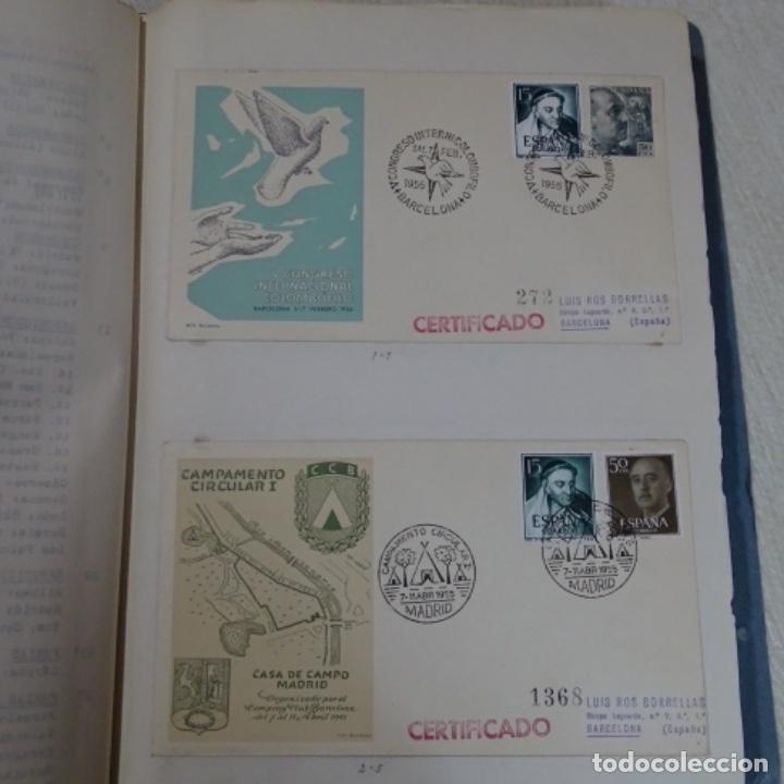 Sellos: Album 111 sobres con sellos y matasellos especiales.años1955-56.bien detallado. - Foto 6 - 155867802
