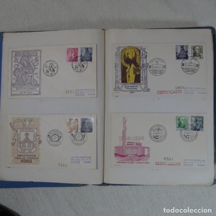 Sellos: Album 111 sobres con sellos y matasellos especiales.años1955-56.bien detallado. - Foto 7 - 155867802