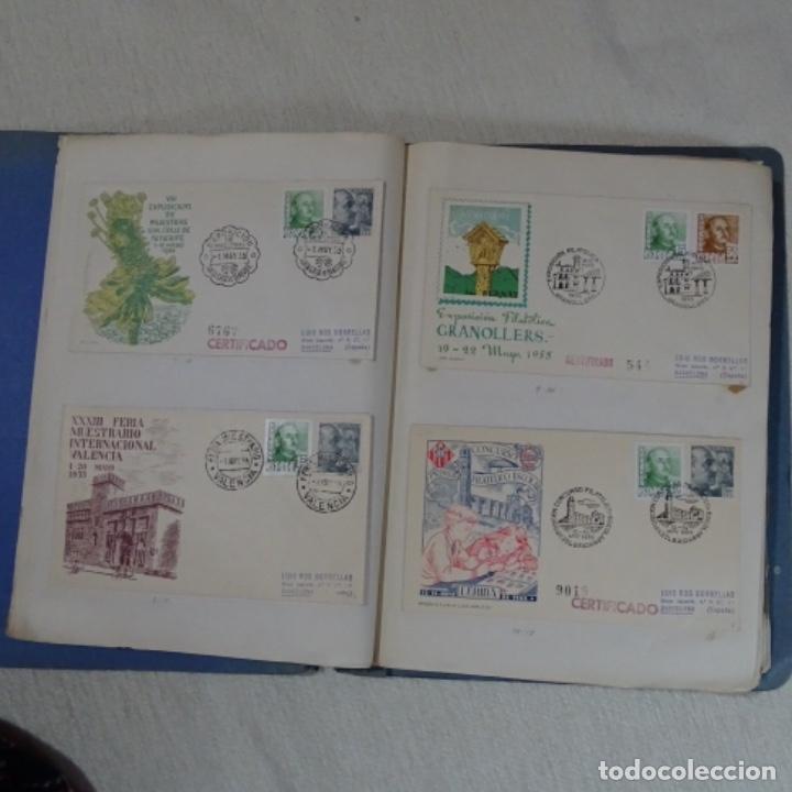 Sellos: Album 111 sobres con sellos y matasellos especiales.años1955-56.bien detallado. - Foto 8 - 155867802
