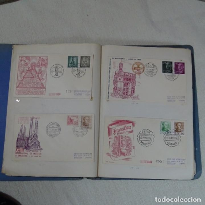 Sellos: Album 111 sobres con sellos y matasellos especiales.años1955-56.bien detallado. - Foto 9 - 155867802
