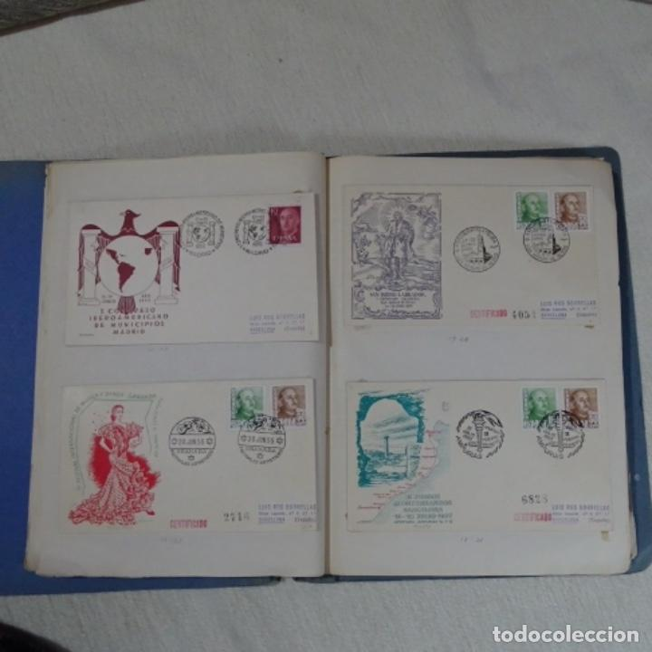 Sellos: Album 111 sobres con sellos y matasellos especiales.años1955-56.bien detallado. - Foto 10 - 155867802