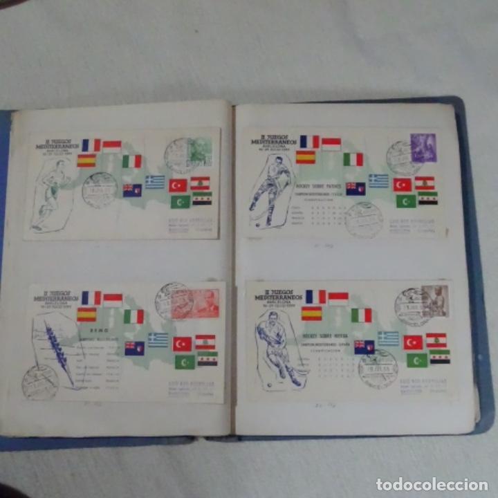 Sellos: Album 111 sobres con sellos y matasellos especiales.años1955-56.bien detallado. - Foto 11 - 155867802
