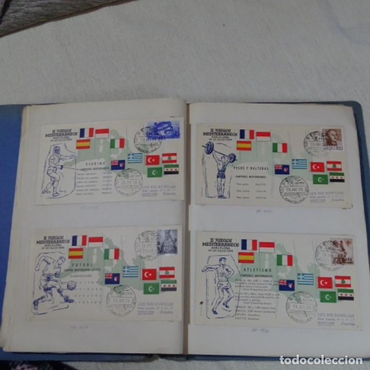 Sellos: Album 111 sobres con sellos y matasellos especiales.años1955-56.bien detallado. - Foto 13 - 155867802