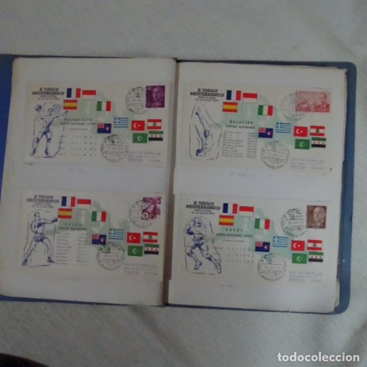 Sellos: Album 111 sobres con sellos y matasellos especiales.años1955-56.bien detallado. - Foto 14 - 155867802