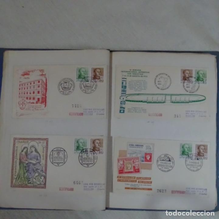 Sellos: Album 111 sobres con sellos y matasellos especiales.años1955-56.bien detallado. - Foto 16 - 155867802