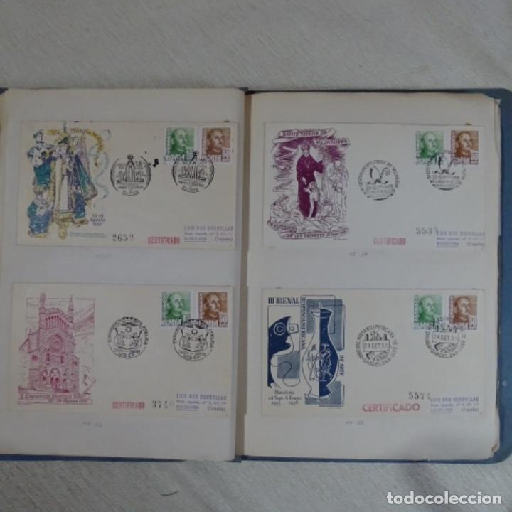 Sellos: Album 111 sobres con sellos y matasellos especiales.años1955-56.bien detallado. - Foto 17 - 155867802