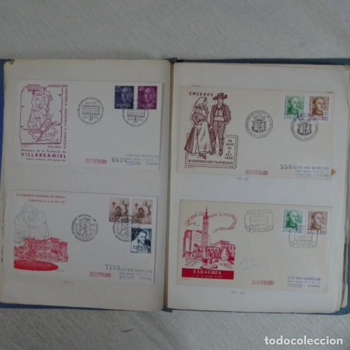 Sellos: Album 111 sobres con sellos y matasellos especiales.años1955-56.bien detallado. - Foto 18 - 155867802