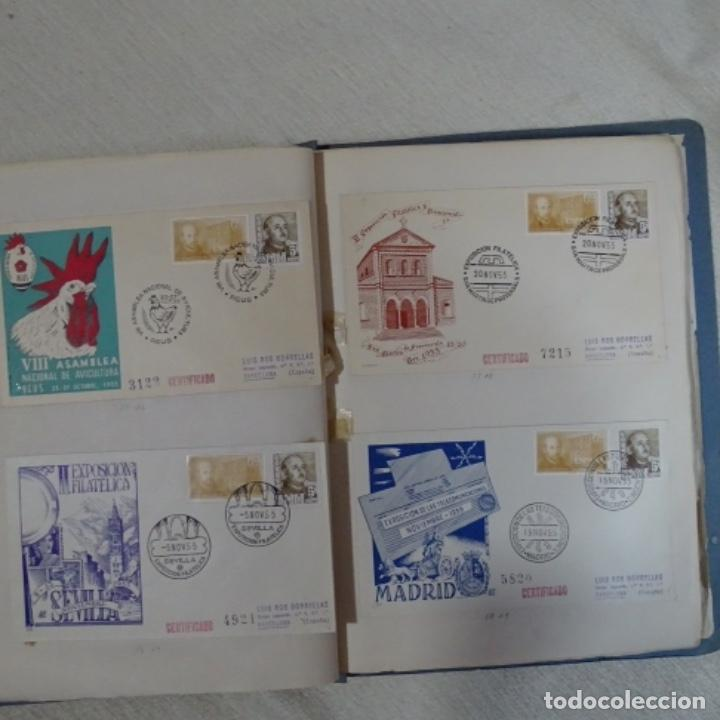 Sellos: Album 111 sobres con sellos y matasellos especiales.años1955-56.bien detallado. - Foto 20 - 155867802
