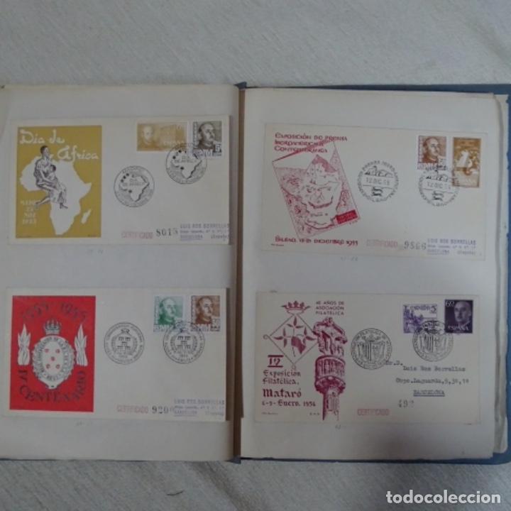 Sellos: Album 111 sobres con sellos y matasellos especiales.años1955-56.bien detallado. - Foto 21 - 155867802