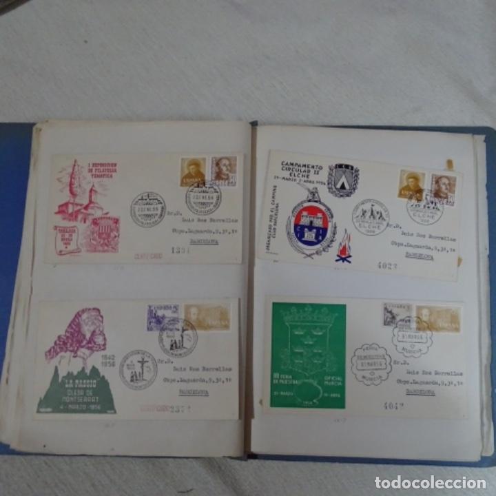 Sellos: Album 111 sobres con sellos y matasellos especiales.años1955-56.bien detallado. - Foto 22 - 155867802